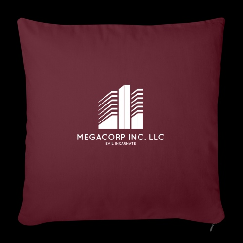 """MEGACORP - GIANT EVUL CORPORATION - Throw Pillow Cover 17.5"""" x 17.5"""""""