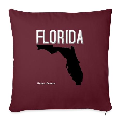 "FLORIDA REGION MAP WHITE - Throw Pillow Cover 17.5"" x 17.5"""