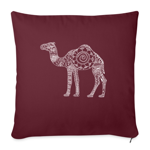"Camel Mandala - Throw Pillow Cover 17.5"" x 17.5"""