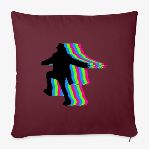 "silhouette rainbow - Throw Pillow Cover 17.5"" x 17.5"""