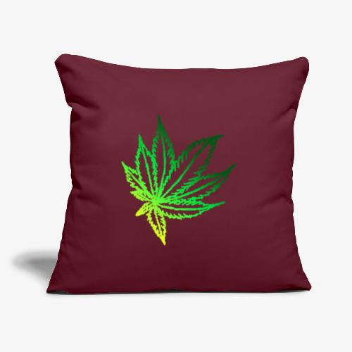 "green leaf - Throw Pillow Cover 17.5"" x 17.5"""