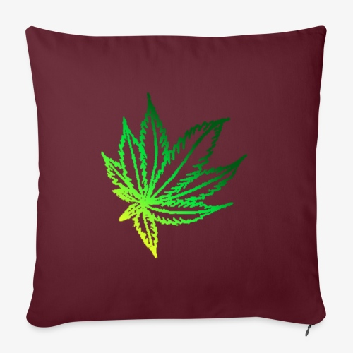 """green leaf - Throw Pillow Cover 17.5"""" x 17.5"""""""