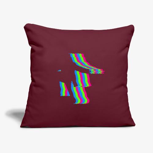 "silhouette rainbow cut 1 - Throw Pillow Cover 17.5"" x 17.5"""