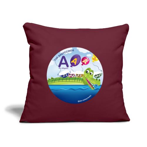 """The Babyccinos The Letter A - Throw Pillow Cover 17.5"""" x 17.5"""""""