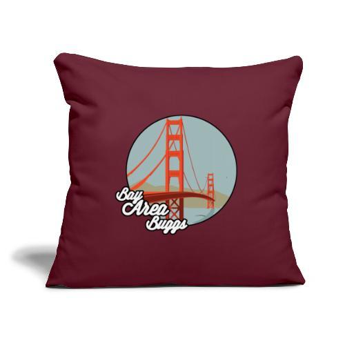 """Bay Area Buggs Bridge Design - Throw Pillow Cover 17.5"""" x 17.5"""""""
