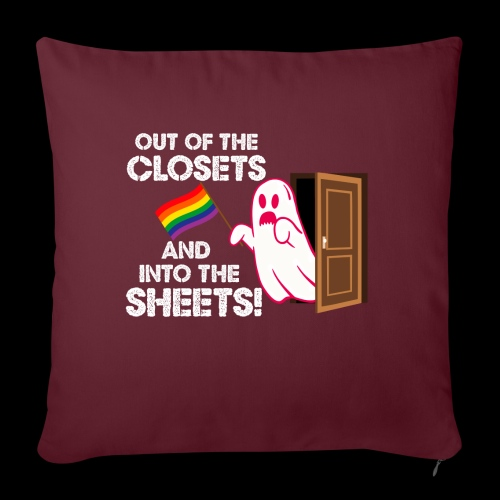 """Out of the Closets Pride Ghost - Throw Pillow Cover 17.5"""" x 17.5"""""""
