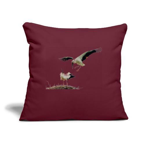 "Stork - Throw Pillow Cover 17.5"" x 17.5"""
