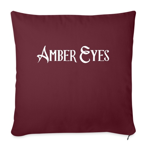 "AMBER EYES LOGO IN WHITE - Throw Pillow Cover 17.5"" x 17.5"""