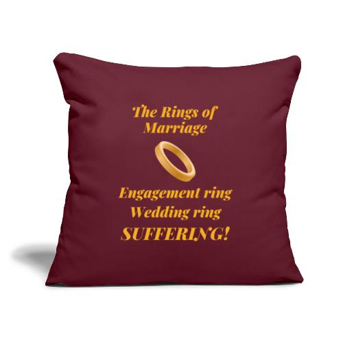 """3 Rings of Marriage - Throw Pillow Cover 17.5"""" x 17.5"""""""