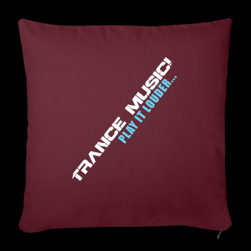 """Trance Music! - Throw Pillow Cover 17.5"""" x 17.5"""""""