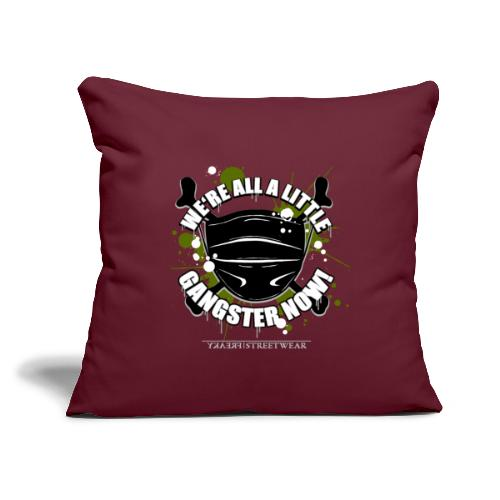 """Covid Gangster - Throw Pillow Cover 17.5"""" x 17.5"""""""