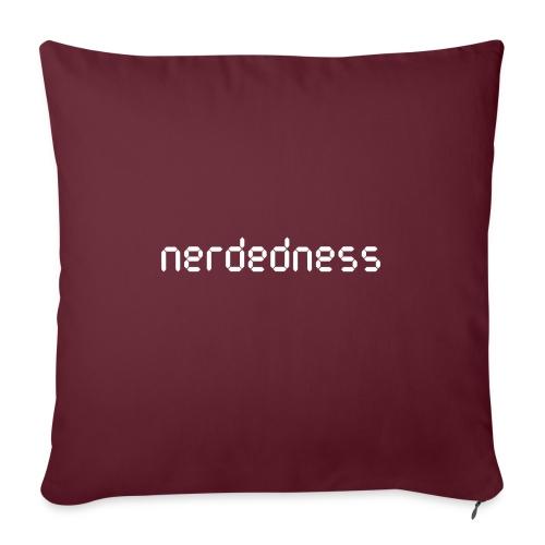 """nerdedness segment text logo - Throw Pillow Cover 17.5"""" x 17.5"""""""