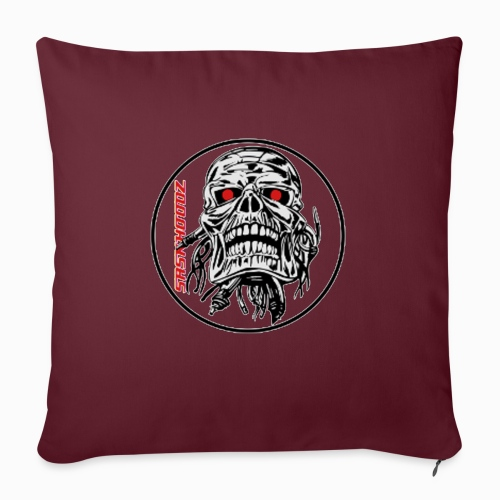 "saskhoodz skull - Throw Pillow Cover 17.5"" x 17.5"""