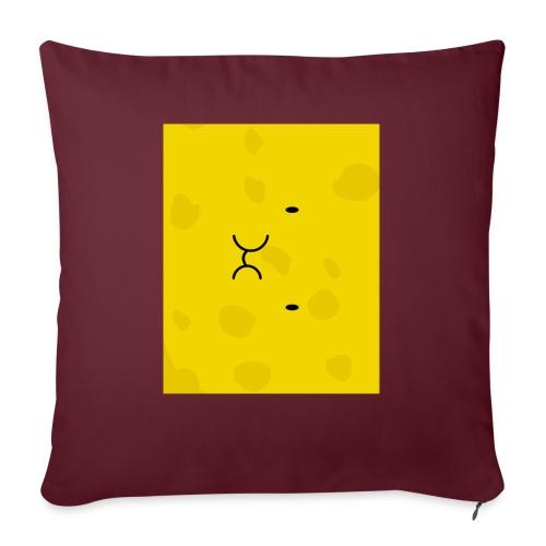 "Spongy Case 5x4 - Throw Pillow Cover 17.5"" x 17.5"""