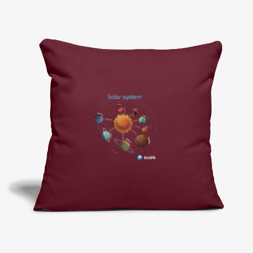 """Solar System Scope : Solar System - Throw Pillow Cover 17.5"""" x 17.5"""""""