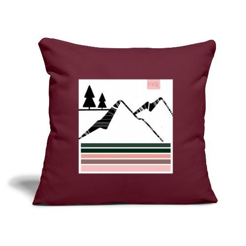 """Mountain Design - Throw Pillow Cover 17.5"""" x 17.5"""""""