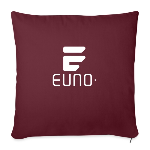 "EUNO LOGO POTRAIT WHITE - Throw Pillow Cover 17.5"" x 17.5"""
