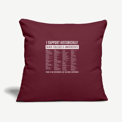"""Support HBCUs List - Throw Pillow Cover 17.5"""" x 17.5"""""""