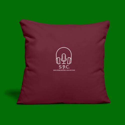 """SPC Logo White - Throw Pillow Cover 17.5"""" x 17.5"""""""
