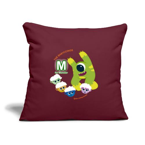 """The Babyccinos M for Monster - Throw Pillow Cover 17.5"""" x 17.5"""""""