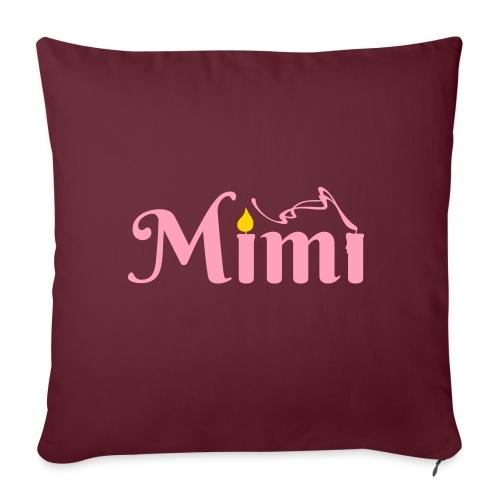 "La bohème: Mimì candles - Throw Pillow Cover 17.5"" x 17.5"""