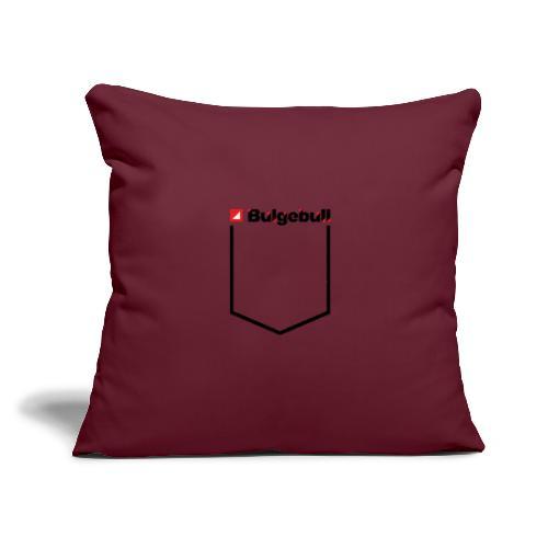 "BULGEBULL POCKET - Throw Pillow Cover 17.5"" x 17.5"""