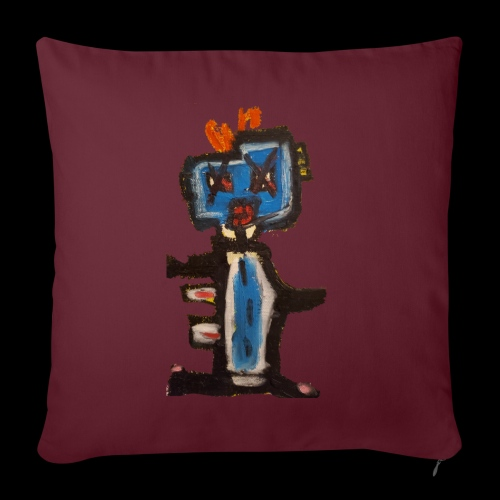 """GIANT AWESOME ROBOT! - Throw Pillow Cover 17.5"""" x 17.5"""""""