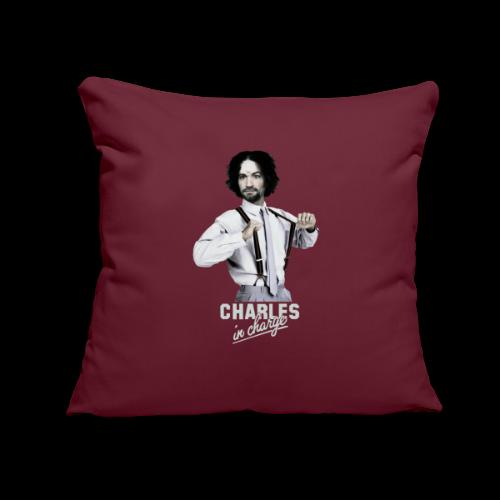 """CHARLEY IN CHARGE - Throw Pillow Cover 17.5"""" x 17.5"""""""