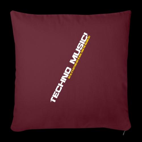 "Techno Music.. Hey DJ.. - Throw Pillow Cover 17.5"" x 17.5"""
