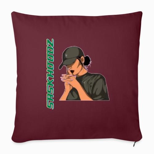 "saskhoodz girl - Throw Pillow Cover 17.5"" x 17.5"""