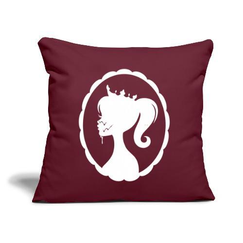 """Cum Princess 2 - Throw Pillow Cover 17.5"""" x 17.5"""""""