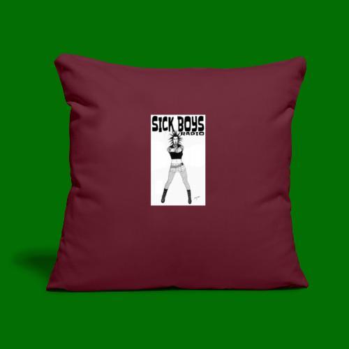 """Sick Boys Girl2 - Throw Pillow Cover 17.5"""" x 17.5"""""""