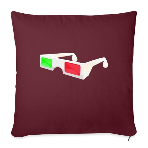 "3D red green glasses - Throw Pillow Cover 17.5"" x 17.5"""