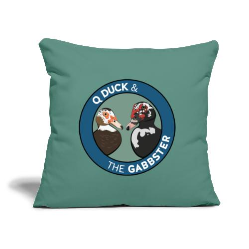 "Q Duck & The Gabbster Logo - Throw Pillow Cover 17.5"" x 17.5"""