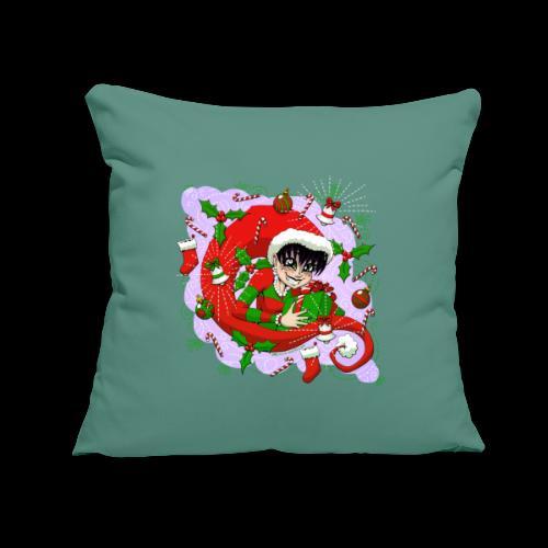 "Christmas 2020 VioleNt Streak - Throw Pillow Cover 17.5"" x 17.5"""