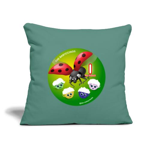 """The Babyccinos Alphabet The Letter I - Throw Pillow Cover 17.5"""" x 17.5"""""""