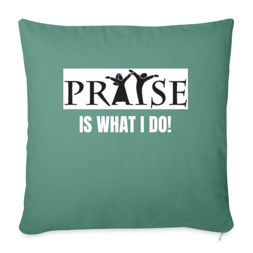 """PRAISE is what i do! - Throw Pillow Cover 17.5"""" x 17.5"""""""