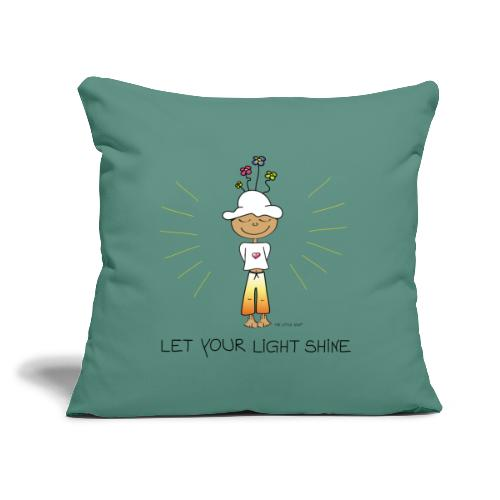 "Let your light shine - Throw Pillow Cover 17.5"" x 17.5"""