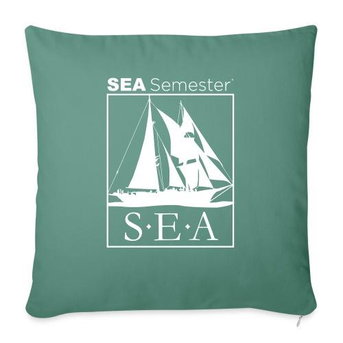 """SEA_logo_WHITE_eps - Throw Pillow Cover 17.5"""" x 17.5"""""""