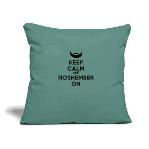 "Noshember.com iPhone Case - Throw Pillow Cover 17.5"" x 17.5"""