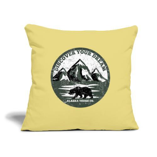 "Discover your Dream Bear - Throw Pillow Cover 17.5"" x 17.5"""