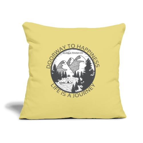"""Life is a Journey Design - Throw Pillow Cover 17.5"""" x 17.5"""""""