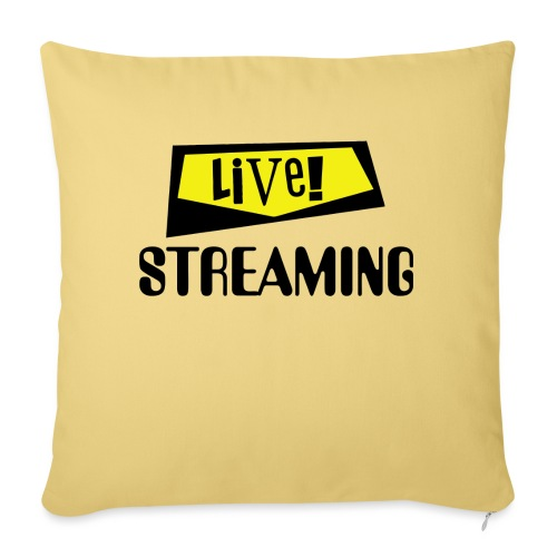 """Live Streaming - Throw Pillow Cover 17.5"""" x 17.5"""""""