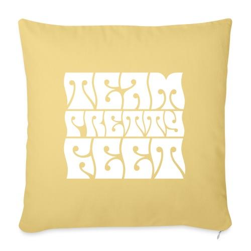 """Team Pretty Feet Peace & Love - Throw Pillow Cover 17.5"""" x 17.5"""""""