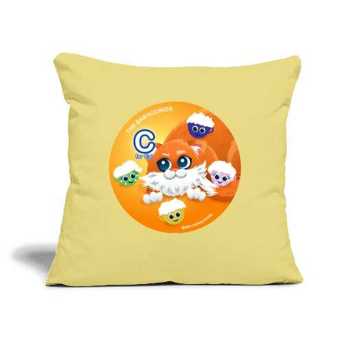 """The Babyccinos The letter С - Throw Pillow Cover 17.5"""" x 17.5"""""""