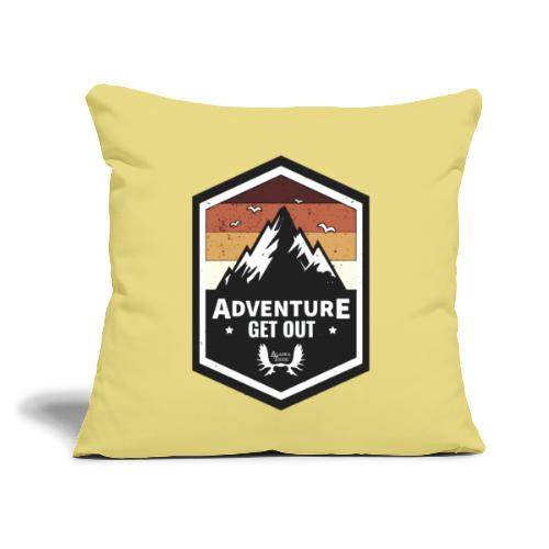 """Adventure Get Outside - Throw Pillow Cover 17.5"""" x 17.5"""""""