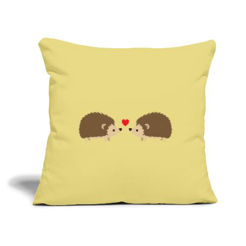 """Hedgehog Lovers - Throw Pillow Cover 17.5"""" x 17.5"""""""
