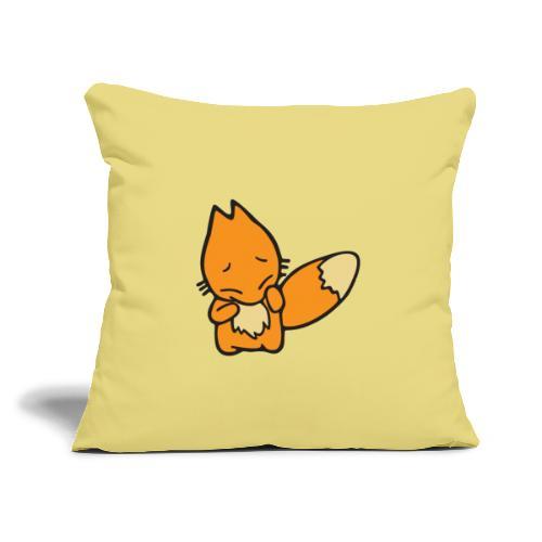 """Scaredy Fox - Throw Pillow Cover 17.5"""" x 17.5"""""""