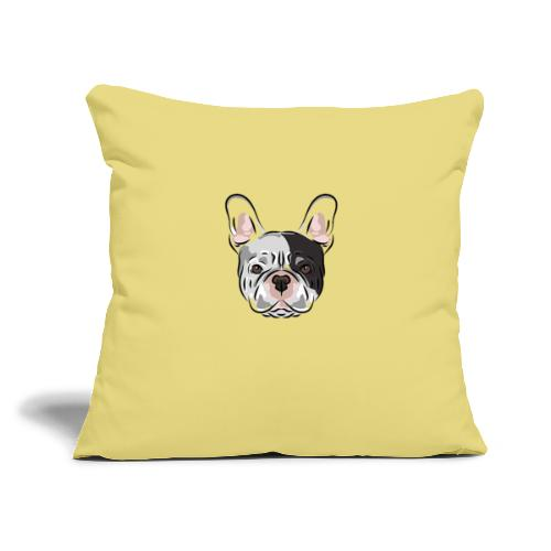 """pngtree french bulldog dog cute pet - Throw Pillow Cover 17.5"""" x 17.5"""""""