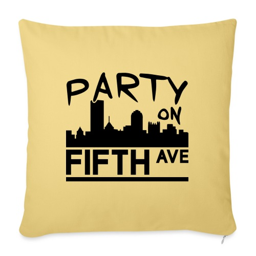 """Party on Fifth Ave - Throw Pillow Cover 17.5"""" x 17.5"""""""